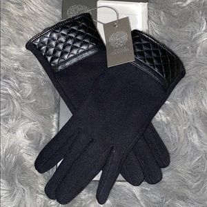 Accessories - Vince Camuto Black *Quilted Cuff* Women's Gloves